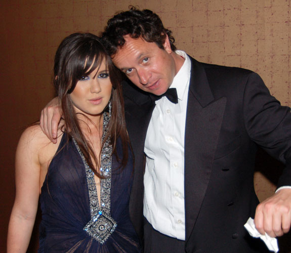 Amber Ridinger with comedian Pauly Shore at the Make-A-Wish Foundation of Southern Florida's annual Intercontinental Ball at the Intercontinental Hotel.