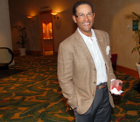 Veteran broadcaster Bryant Gumbel arrives at the Marino Foundation Charity Dinner at the Loews Hotel on Miami Beach, Fla.