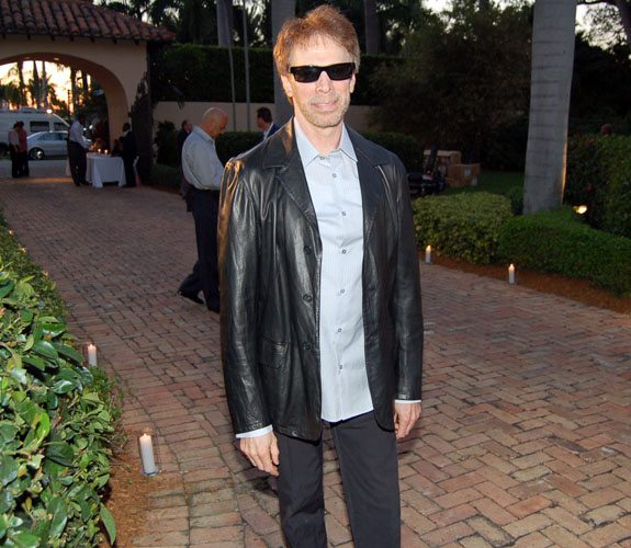 Movie producer and part-time South Beach resident Jerry Bruckheimer at a Miami Heat team benefit at the home of Shaquille O'Neal on Star Island.