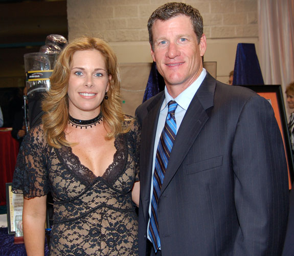Former Florida Marlins first baseman Jeff Conine and his wife, Cindy, at the Make-A-Wish Foundation of Southern Florida's Ultimate Sports Auction.